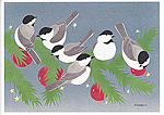 Click here for more information about Chickadees holiday card set